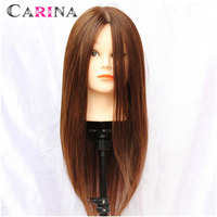 100 Human Hair 18 Brown Hairdresser Training Mannequin Head Hairdressing Styling Practice Mannequin Heads With Free