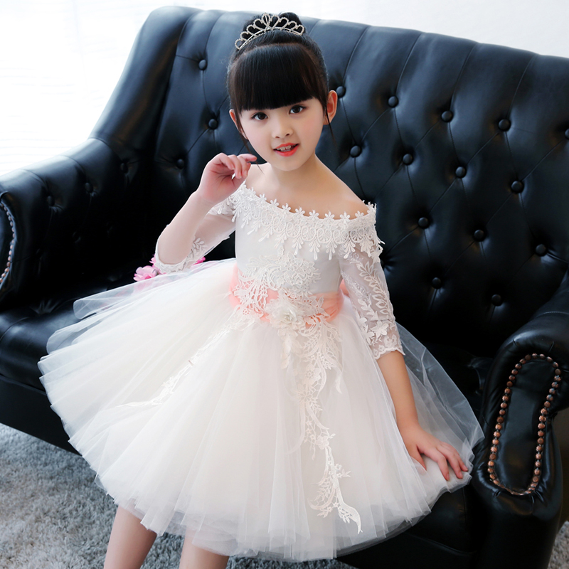 High quality children's dress princess dress baby birthday flower girl dress girl dance piano host costumes baby girl red children s dress princess dress long sleeve birthday flower girl dress girl piano host costume long winter
