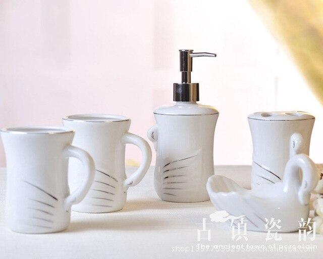 Cinque pezzi bone china bagno in ceramica set semplicità servizi ...