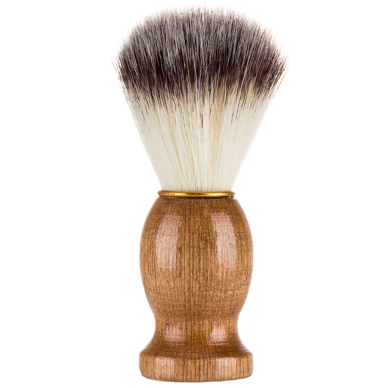 Badger Hair Men's Shaving Beard Brush Salon Men Facial Beard Cleaning Appliance Shave Tool Razor Brush With Wood Handle For Men
