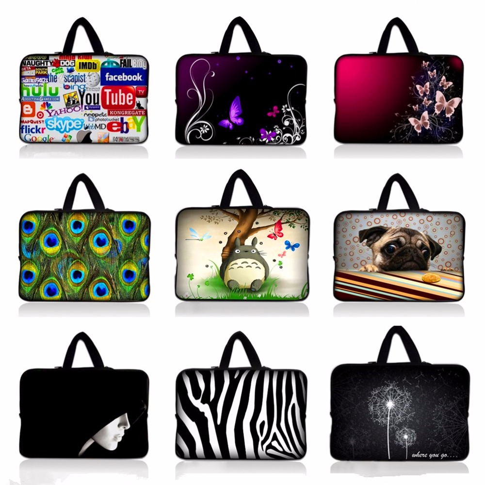 9.7 10 11.6 13.3 14.4 15.6 17.3 inch Handle Laptop Sleeve Bag Notebook Smart Cover tablet Case For Macbook Air/Pro/Retina #E