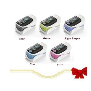 Free Shipping Fingertip Pulse Oximeter Health Care Tool LED Screen 5 Colors
