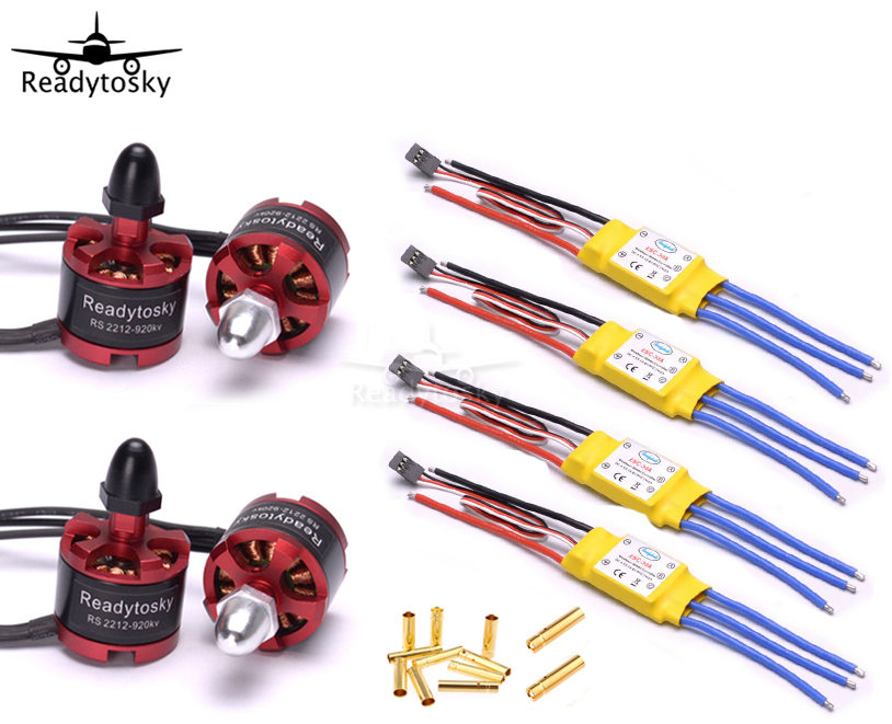 Readytosky 2212 920KV CW/CCW Brushless Motor + 30A XXD ESC + 3.5mm Connector for S500 F450 F550 S550 Multicopter 4set lot universal rc quadcopter part kit 1045 propeller 1pair hp 30a brushless esc a2212 1000kv outrunner brushless motor