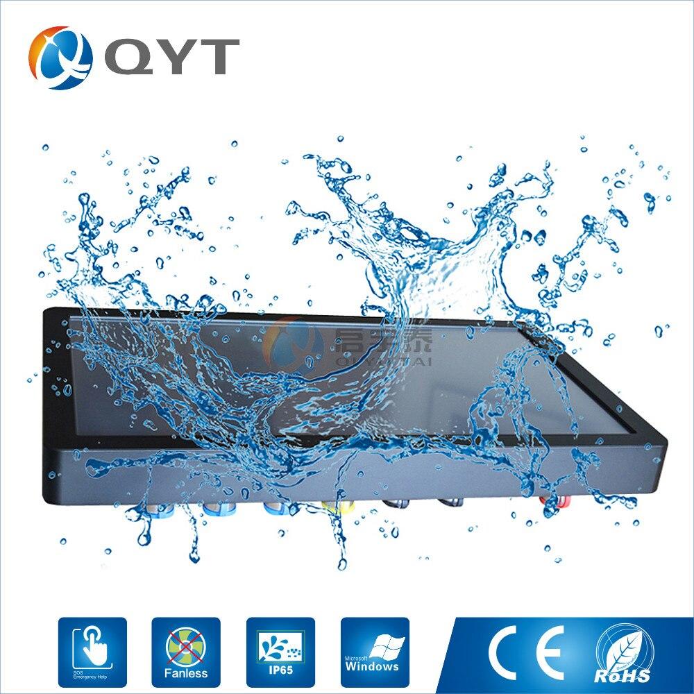 Промышленный ПК 21.5 водонепроницаемый полный IP65 с Core i3 2 ГБ DDR3 32 г SSD touch screen1920X1080 Wi-Fi/ USB/VGA пыле хорошее охлаждение