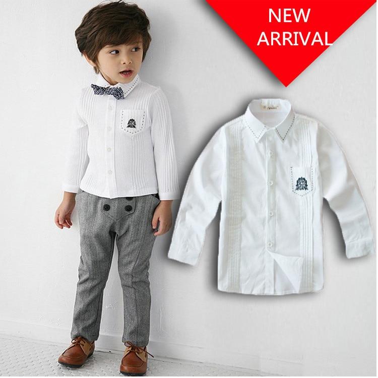 2015 нова детска риза с дълъг ръкав (100% - Детско облекло - Снимка 1