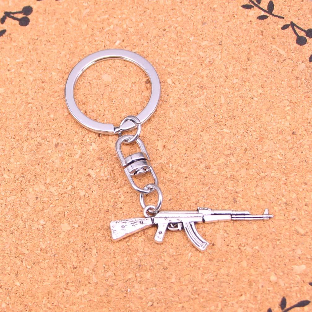 Charms pendant Tibetan silver Submachine gun 10-25pcs Jewelry Accessories
