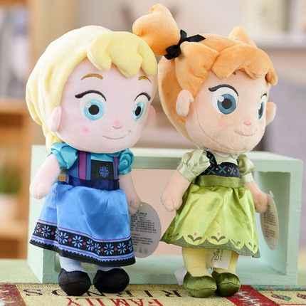 Диснея Замороженная Принцесса плюшевые игрушки куклы 30 см в версии детство Эльза и Анна плюшевый кукольный ребенок мягкая игрушка для детей Подарки
