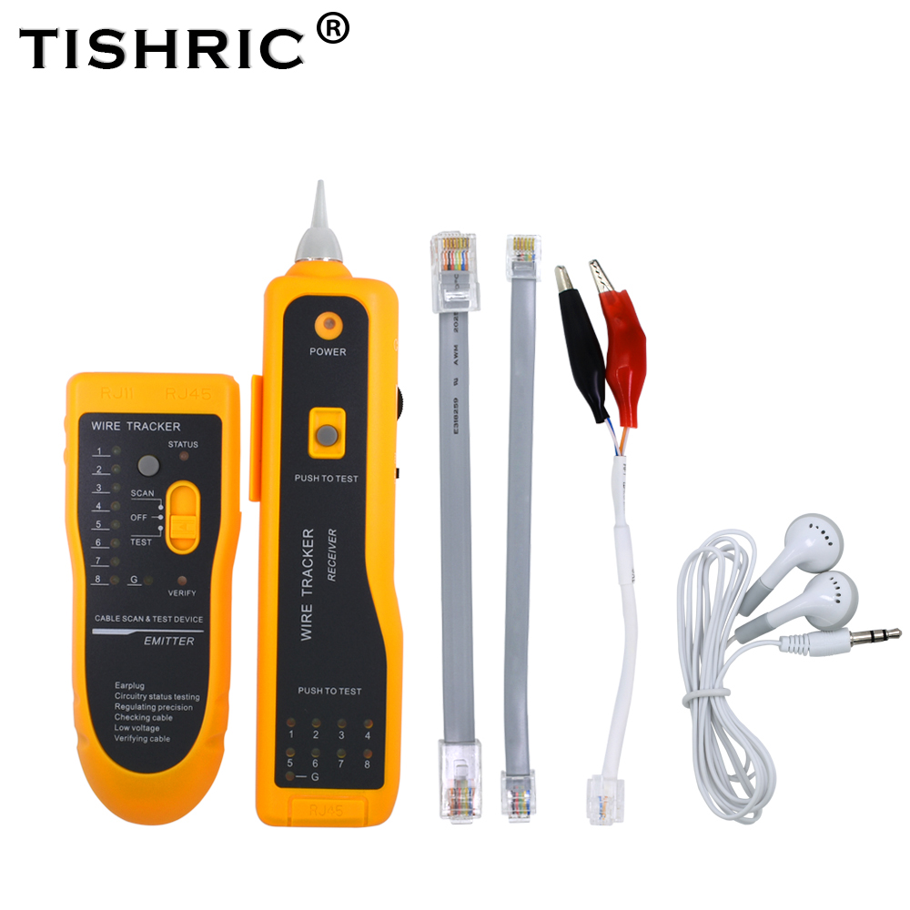 TISHRIC JW-360 LAN Network Cable Tester Cat5 Cat6 RJ45 UTP STP Line Finder Telephone Wire Tracker Tracer Diagnose Tone Tool Kit