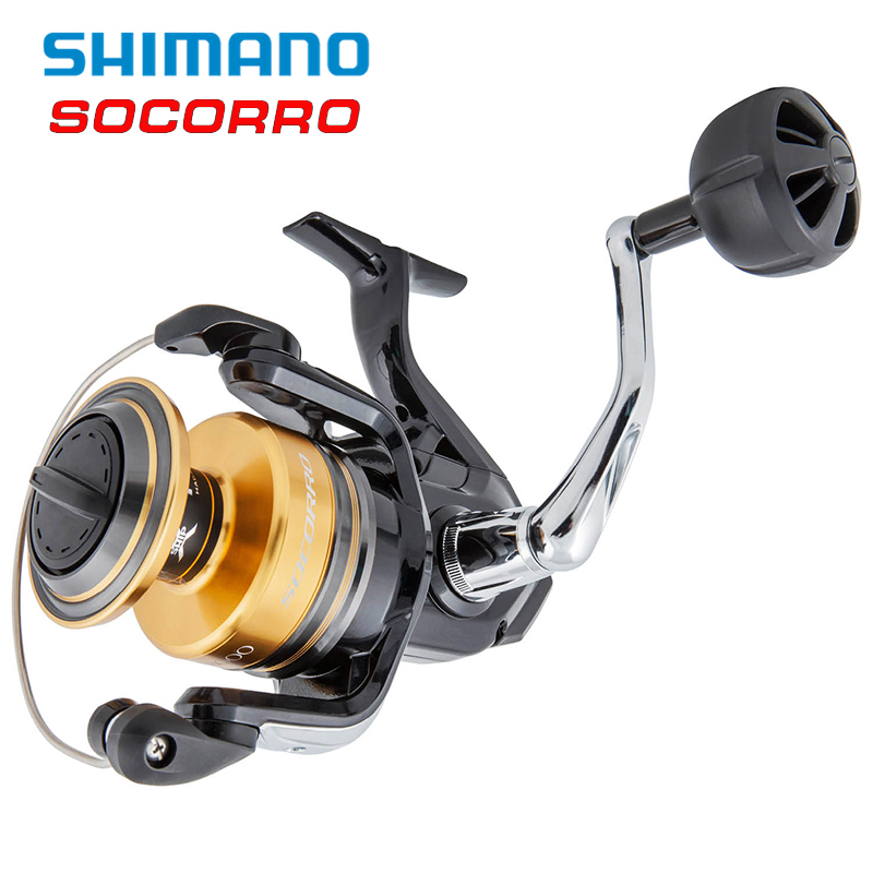 SOCORRO SW X-Ship 4+1BB 4.9:1 Carp Fishing Reels 5000-8000 Cross Carbon Drag Big Sea Saltwater Spinning Pesca Carretilha