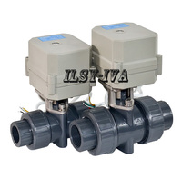 DC24V DN50 Electric PVC Ball Valve,2 way plastic motor control valve