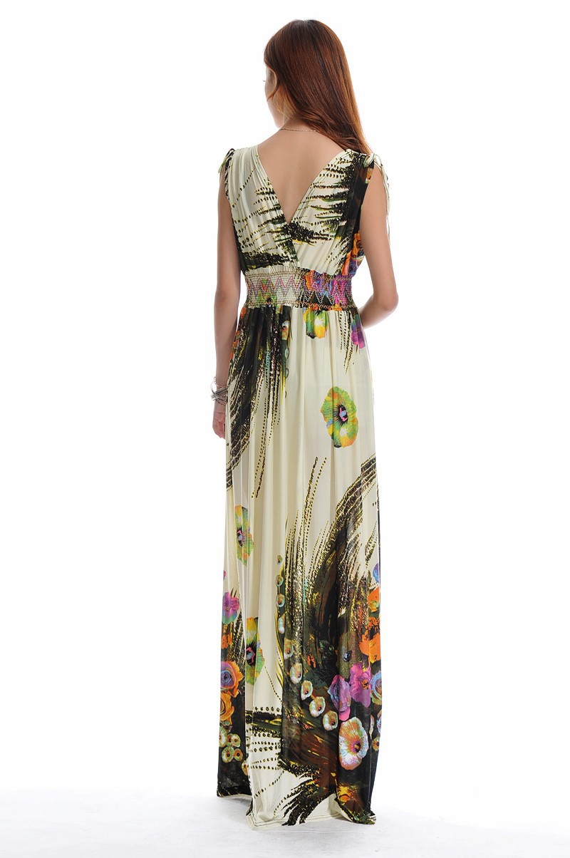 a81f0535e971e US $15.47 14% OFF|Summer dress Beach Dress Long Bohemian Dress Plus Size  6XL Jupe Atacado Robe Longue Roupas femininas Long Maxi Dress-in Dresses  from ...
