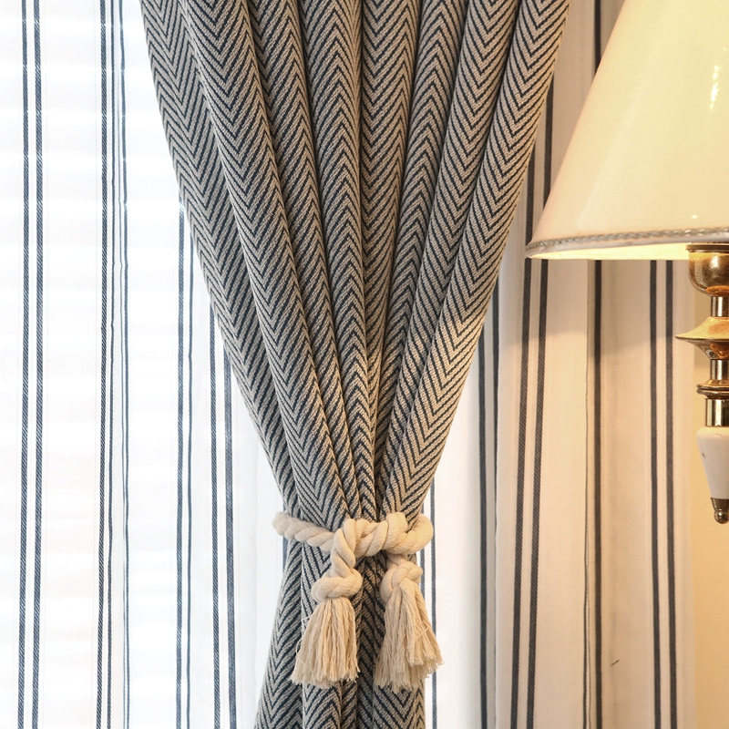 Simple Striped Decoration Blackout Curtains for the Bedroom  Modern Tulle Curtains for Living Room Window Curtains