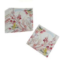 20pcs Printed Flower Paper Napkins For Wedding And Party Decoration Tissue Fabric Decoupage Primary Wood Pulp Napkin 30*30cm цена и фото