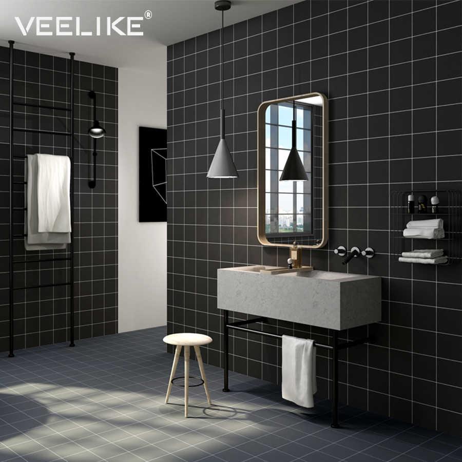 - Modern Brick Mosaic Tile Decals Self Adhesive Wallpaper For