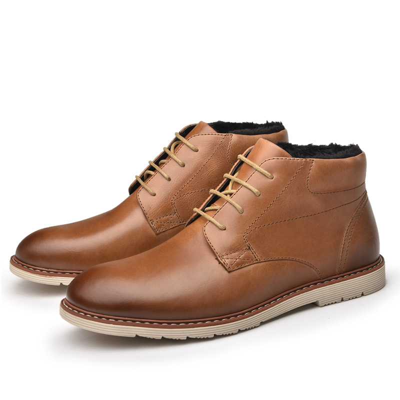 Alta Neve Pelúcia Plus Ankle Inverno Moda Size Homens Ru0033 45 40 Homem Boot De Couro Outono Osco Genuínos Quente Botas Sapatos Top nAOqPTxwaf