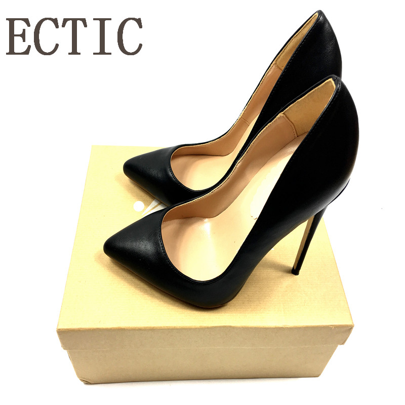 Sheep Leather Thin Heels Office Shoes black red Women Pumps Fashion High Heels Shoes Women's Pointed Toe Sexy Shoes Shallow women shoes genuine leather pointed toe high heels women pumps shoes 2018 brand new fashion sexy red women office shoes 2588 a01