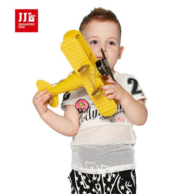 Bebé deportes de los muchachos camisetas de los niños camisetas impresión de la letra del verano niños camisetas ropa de los cabritos tamaño 1-3 t ropa de bebé marca tees intant