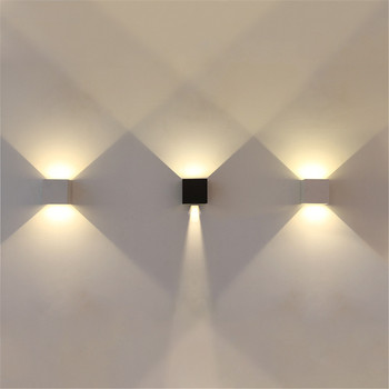 3pcs Waterproof Wall lamps outdoor / indoor hallway Path led wall light  12W AC85-265V Cube Adjustable COB LED Sconces Lighting