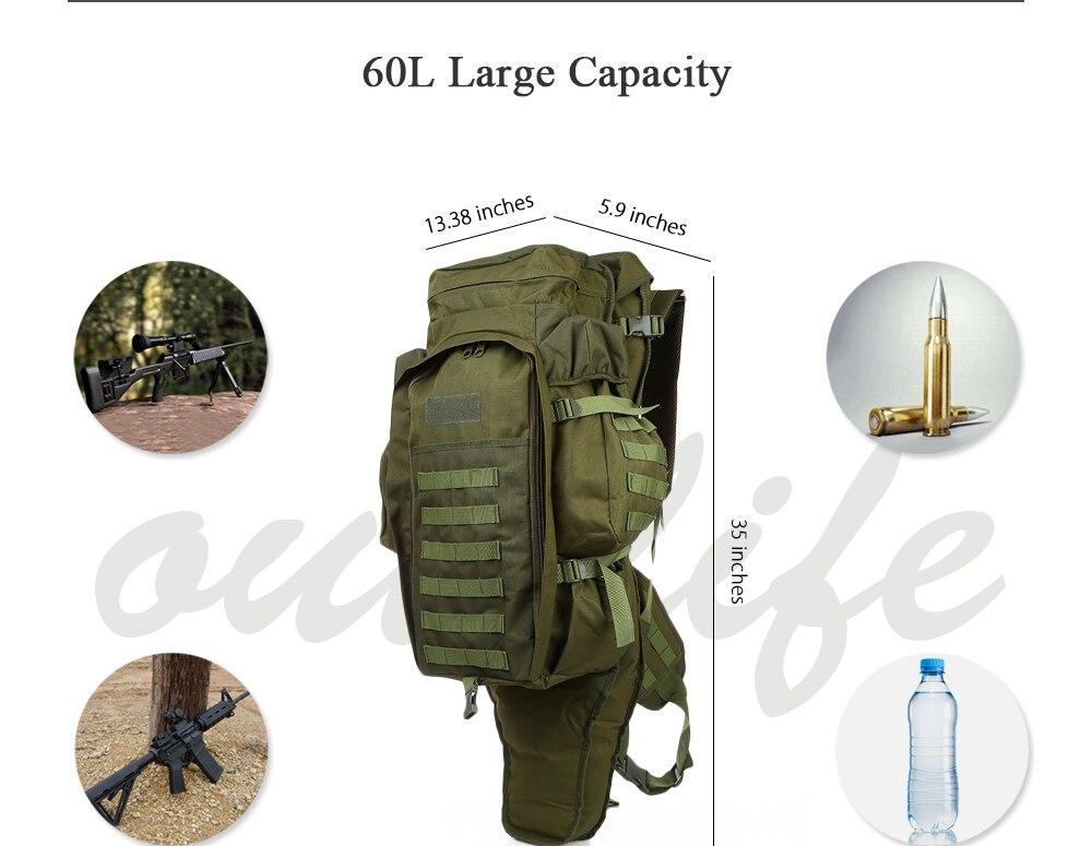 60L Outdoor Backpack Pack Rucksack for Hunting Shooting Camping Trekking Hiking Traveling Backpacks Waterproof Bags (21)