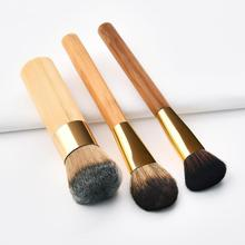 3pcs Professional Makeup brushes Bamboo Handle Soft Hair