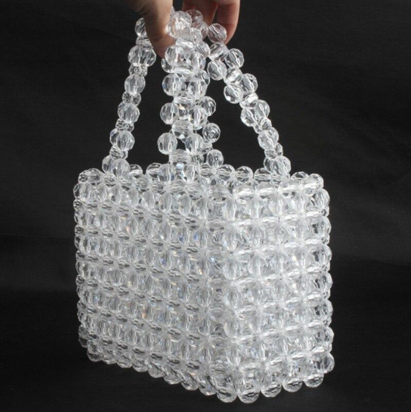 2019 été Transparent cristal sac Designer perles gelée sac embrayage clair sac bandoulière messagers femmes cristal sac à main fourre-tout