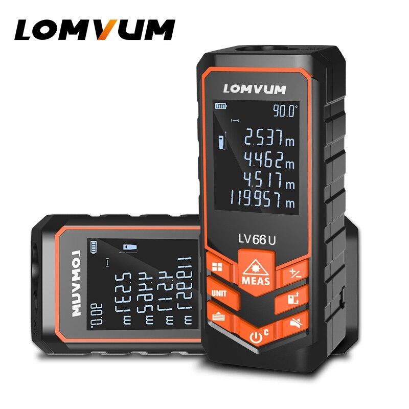 LOMVUM LV 66U Haltegriff Laser-entfernungsmesser Digital Laser-distanzmessgerät Elektrischen Ebene Band Misuratore Laser Abstand Vermesser