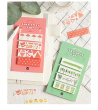 12 styles of creativity Cute fruit series portable and paper tape Handbook diary convenience sticker stationery