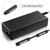 12V/3.6A 43W Charger Adapter Power Supply for Microsoft Surface Pro 2(1512 1536 Windows 10.6 Inch Tablet) Surface Pro Surface RT