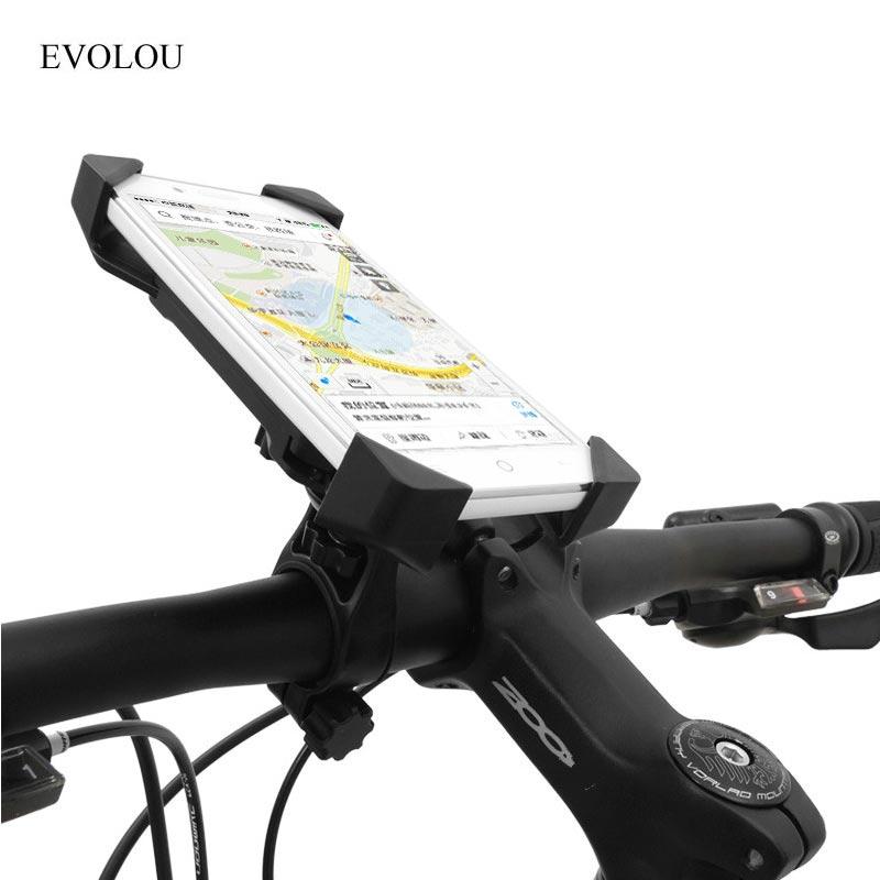 ველოსიპედის მფლობელი უნივერსალური ველოსიპედის ტელეფონის მფლობელი, სამაგრის სამაგრის სამაგრი სამაგრის დამონტაჟებული iphone X 8 7 Plus GPS მოძრავი მობილური მხარდაჭერისთვის