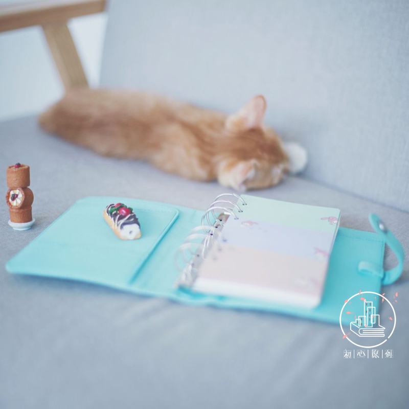 2017 New Organizer Cat Cute kawaii Notebook A6 Fabric Planner With Divider Pages Similar kikki Planner Filler School Supplies