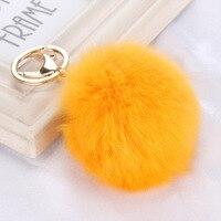 Fluffy Raccoon Fur Ball Keychain Fur Pompom Key Chain Pompon Keyring Charm Women Bag Pendant Wholesale