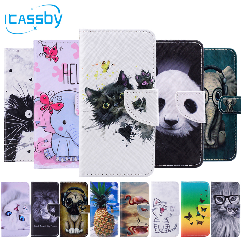 Phone Bags & Cases Sfor Coque Huawei P Smart Case Cute Panda Cat Owl Leather Flip Wallet Phone Cases For Huawei P Smart Cover Etui Capinha Huawey Beneficial To Essential Medulla Wallet Cases
