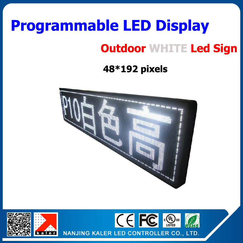 Outdoor P10 48*192dots Led Display Screen High Bright P10 Led Advertising Display White Color