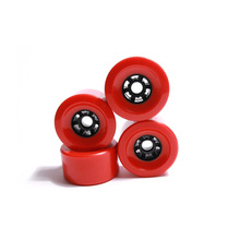 Big 80mm 87mm 83mm 90mm 97mm Longboard wheel SHR78A Red color PU wheels High level soft wheels resistant PU longboard wheels wheels go round level 1