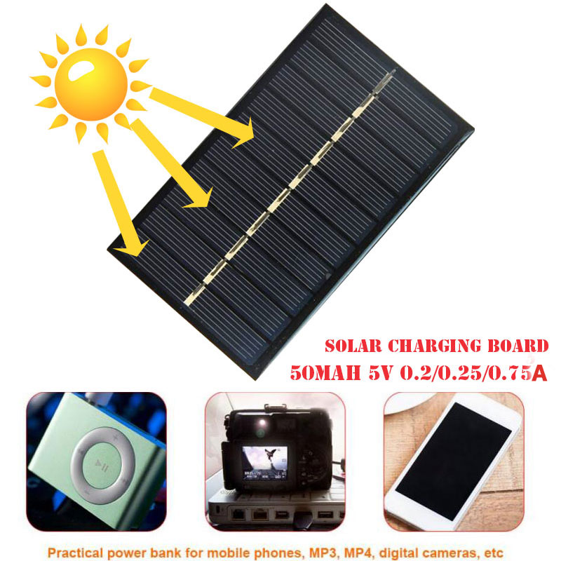 Solar Power Bank Panel Charger New Energy Tool Polysilicon Black Durable Waterproof USB Outdoor Phone Accessory Travel
