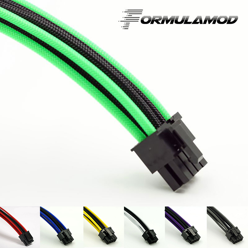 FormulaMod Fm-PCI8P-C, PCI-E 8Pin GPU Power Extension Cables, Motherboard 18AWG 8Pin Multicolor Matching Extension Cables