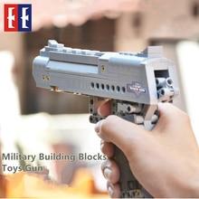 New DIY Military Building Blocks 307pcs Toys Gun Desert Eagle Model Kits Bricks Boy Gift Drop Shipping Compatible LegoE Weapon