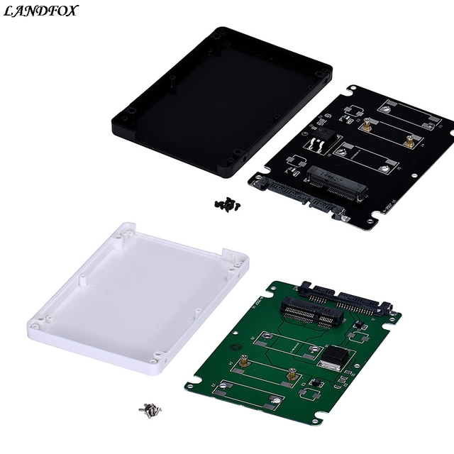 Mini pcie mSATA SSD To 2.5Inch SATA3 Adapter Card With Case