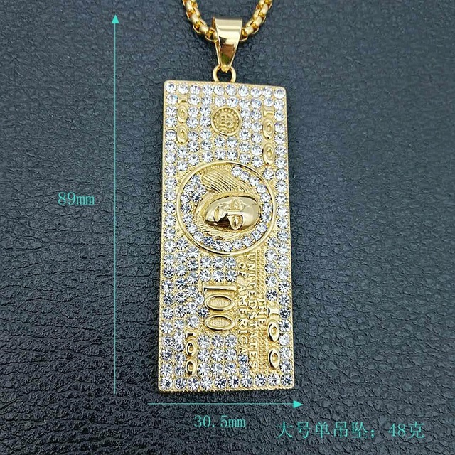 US $100 Dollar Money Necklace & Pendant 8