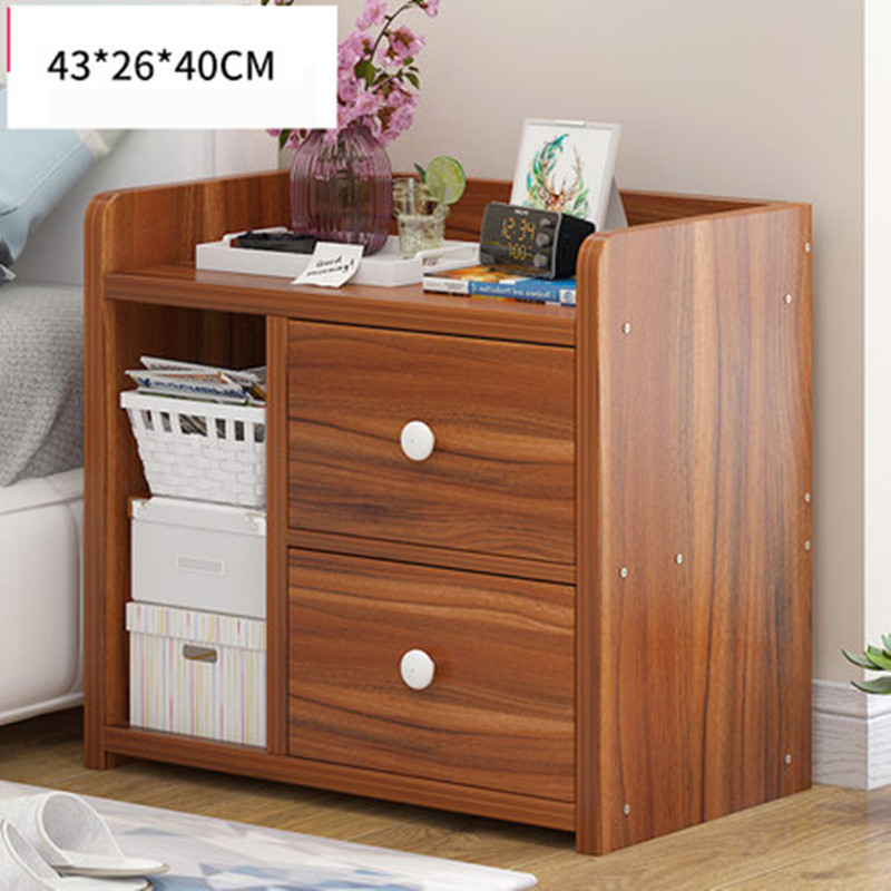 US $69.86 22% OFF|Bedroom lockers with drawers simple bed cabinet storage  small cabinet storage cabinet dormitory bedroom assembly bedside table-in  ...