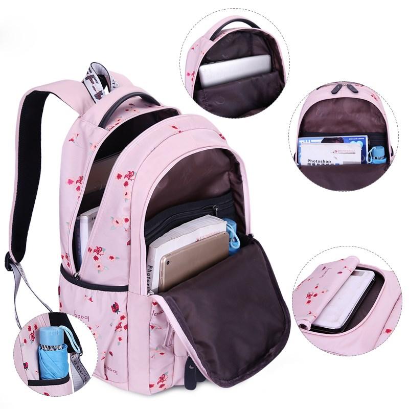 Image 4 - OKKID children school bags for girls russia elementary school backpack cute flower print pink backpack schoolbag girl book bag-in School Bags from Luggage & Bags