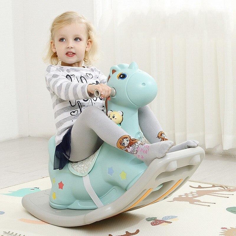 Neue Design Verdickung Kunststoff Schaukelpferd Kinder Kleinkind Baby Zimmer Spielzeug Schaukel Prahler Fahrt auf Pferd Sicher Schaukelstuhl