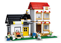 SLUBAN City Large Scene Apartment Villas Building Blocks Sets Doll House Bricks Model Kids Children Gifts