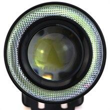 Leadtops 2 шт. высокая мощность 2.5/3.0/3.5 «проектор универсальные светодиодные противотуманные фары вт/синий/зеленый/красный/белый cob гало глаза ангела кольца bb