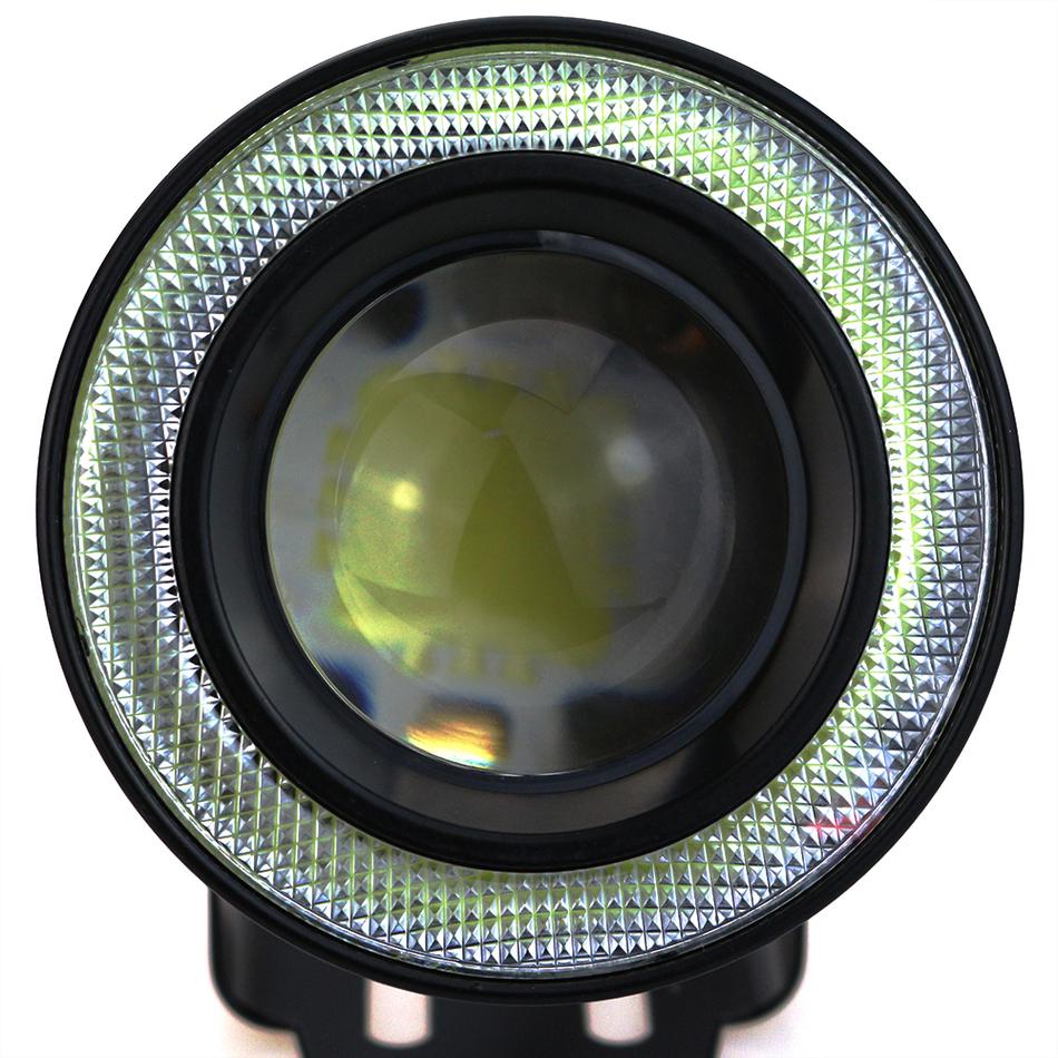 """Prix pour Leadtops 2 pcs haute puissance 2.5/3.0/3.5 """"projecteur universel led brouillard lumière w/bleu/vert/rouge/blanc cob halo ange anneaux yeux bb"""