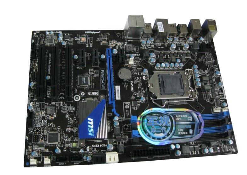 Free shipping 100% original motherboard for MSI PH67S-C43 LGA 1155 DDR3 RAM 32G Motherboard Desktop Boards free shipping original motherboard for asus p8p67 le ddr3 lga 1155 ram 32g motherboards sata3 0 usb3 0 mainboard