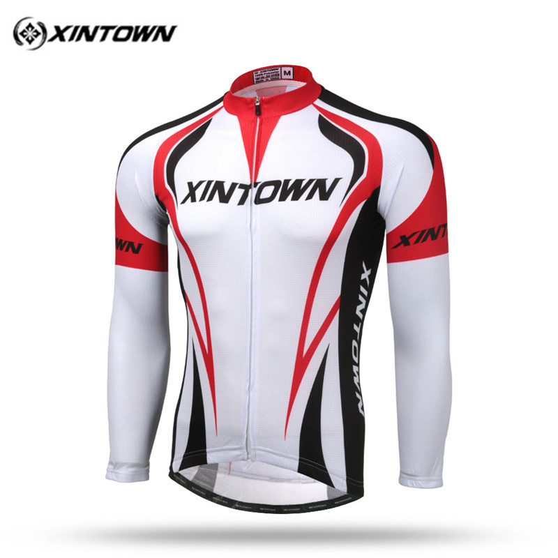 Xintown Men Cycling Jersey Long Sleeve 2017 pro team Cycling Clothing mtb Bike Jersey Reflective Riding Bicycle Cycle Clothing