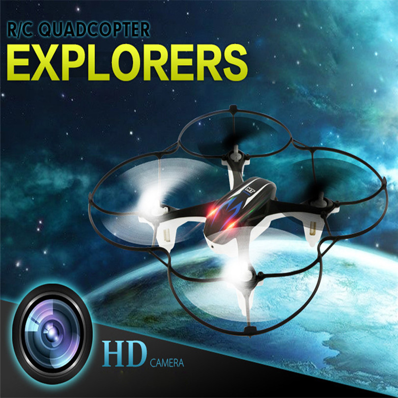 2017 New Mini RC Quadcopter 2.4GHz 4CH 6-Axis Gyro 3D UFO Drone With 2.0MP HD Camera BK Toys for children dolls