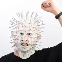 Halloween Mask Horror Movie Hellraiser Scary Pinhead Masks Grimace Monster Adult Cosplay Realistic Latex Party Its Cool
