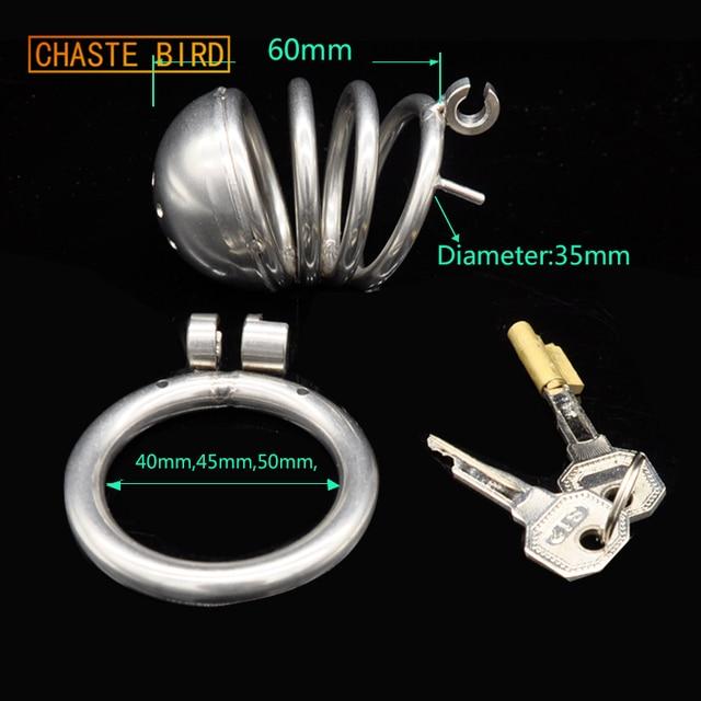 Dispositivo de Castidad masculina de acero inoxidable para pájaro casto 87ea2de384a
